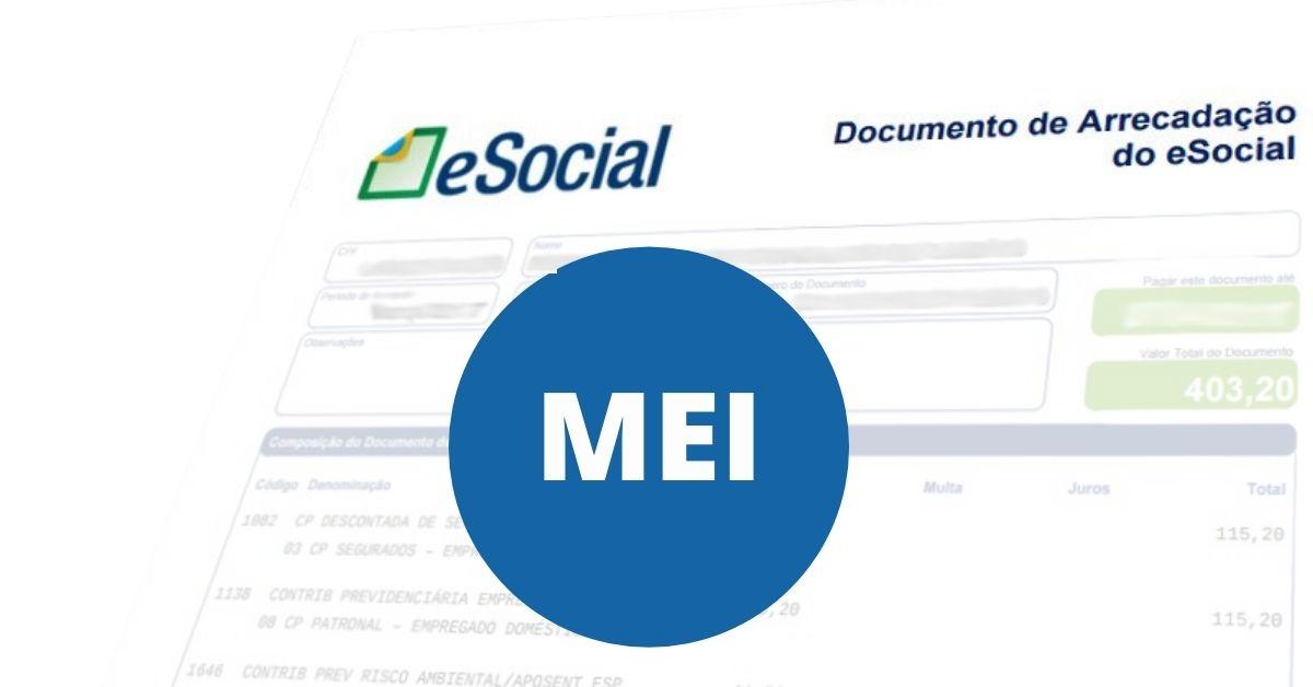 Devido à recentes alterações, o MEI deverá cumprir as obrigações previdenciárias do seu colaborador pelo documento de arrecadação do ESOCIAL